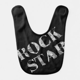 "Bavoir noir ""Rock Star"""