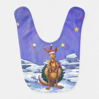 Bavoir Nuit étoilée de Noël de kangourou