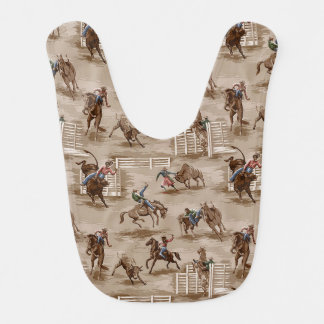 Bavoir occidental de bébé de cowboy de rétro rodéo