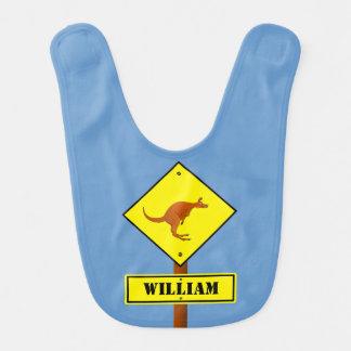 Bavoir Panneau routier personnalisable de kangourou