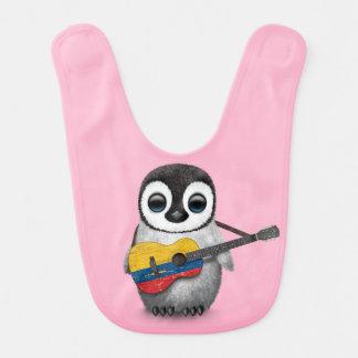 Bavoir Pingouin de bébé jouant le rose colombien de