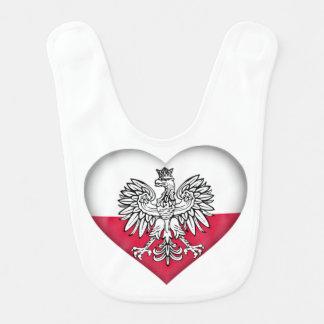 Bavoir polonais de bébé d'amour