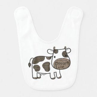 Bavoir Produit mignon et inspiré de vache pour le bébé