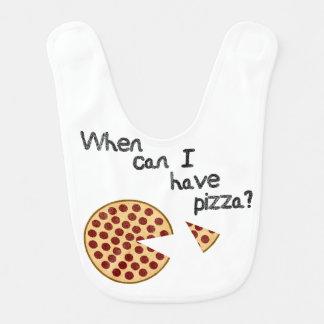 Bavoir Quand est-ce que je peux prendre la pizza ?