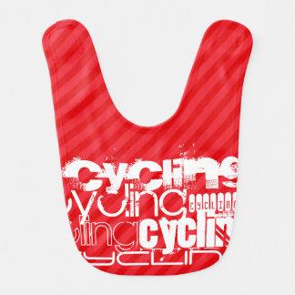 Bavoir Recyclage ; Rayures de rouge d'écarlate