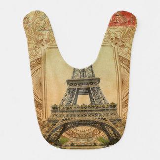 Bavoir Tour Eiffel vintage de Paris de remous girly