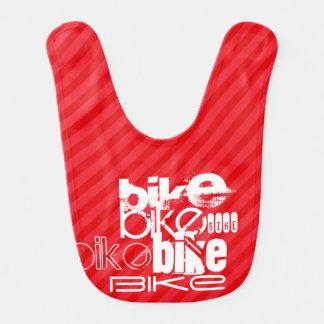 Bavoir Vélo ; Rayures de rouge d'écarlate