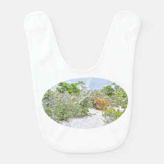 Bavoir vert abstrait d'étincelle de paysage en Floride