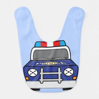 Bavoir Voiture de patrouille bleue audacieuse de police