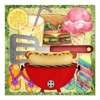 BBQ - Partie de fin d'année ! SRF Carton D'invitation 13,33 Cm