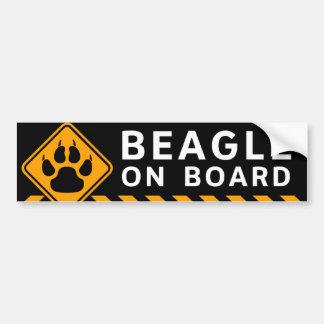 Beagle à bord autocollant de voiture
