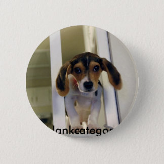 beagle, blankcategory badge rond 5 cm