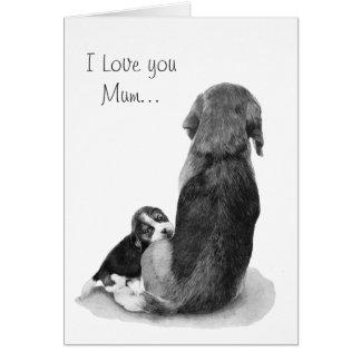 Beagle mignon de chiot avec la carte réaliste