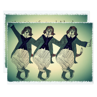 Beagles de chant d'opéra carton d'invitation  12,7 cm x 17,78 cm