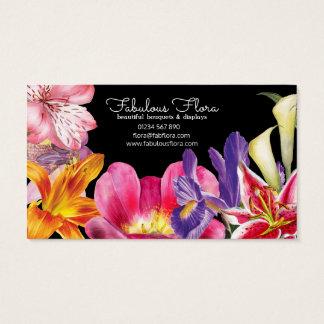 beau carte de visite 2 de fleuriste de mariage de