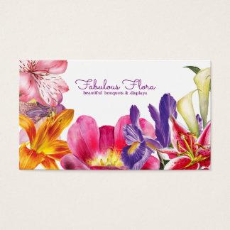 beau carte de visite de fleuriste de mariage de