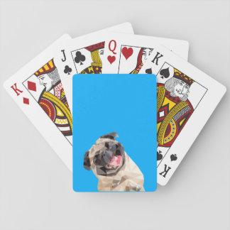 Beau chien de balais cartes à jouer