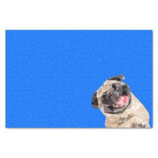 Beau chien de balais papier mousseline