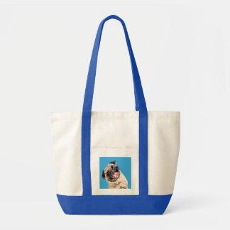Beau chien de balais sac en toile impulse