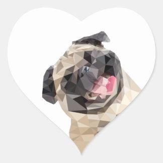 Beau chien de balais sticker cœur