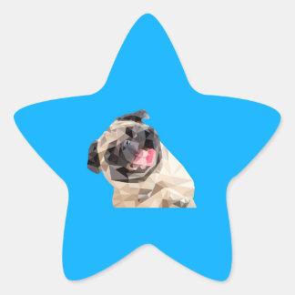 Beau chien de balais sticker étoile