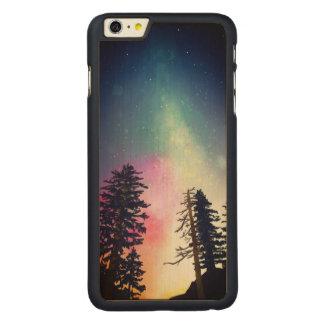 Beau ciel nocturne brillant jusqu'aux cieux coque carved® en érable pour iPhone 6 plus case