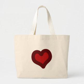 Beau coeur grand sac