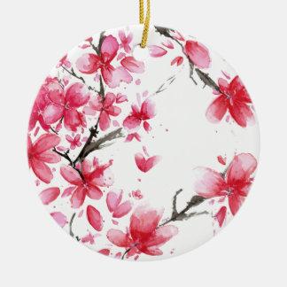 Beau et élégant ornement des fleurs de cerisier  