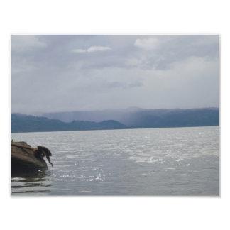 Beau lac impression photo