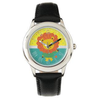 Beau lion coloré pour des enfants, bébé montres bracelet