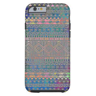 Beau motif géométrique aztèque coloré frais coque tough iPhone 6