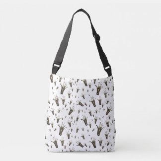 Beau motif noir de couronne sac