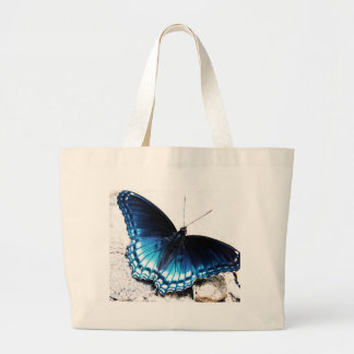 Beau papillon bleu grand sac
