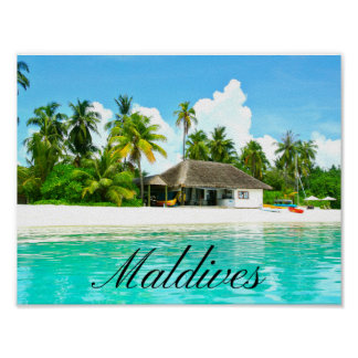 Beau paysage des Maldives