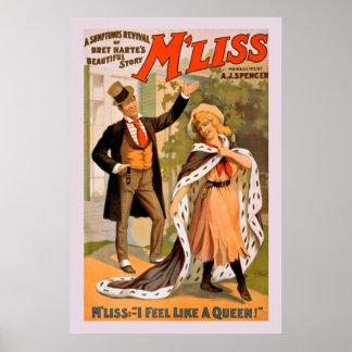 Beau poster vintage d'histoire