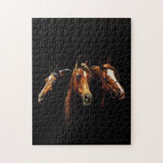 Beau puzzle Arabe de chevaux