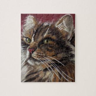 Beau puzzle de chat de ragondin du Maine de rêveur
