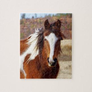 Beau puzzle de cheval de peinture