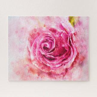 Beau puzzle de rose de rose