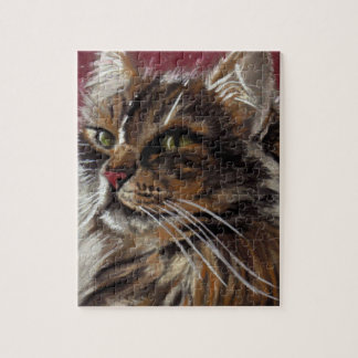 Beau rêveur - puzzle de chat de ragondin du Maine
