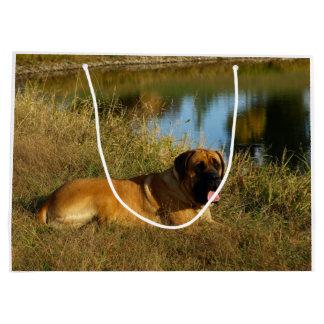 Beau sac anglais de cadeau de chien de mastiff