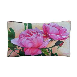 Beau sac de cosmétique de roses