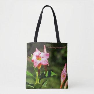 Beau sac floral tropical rose