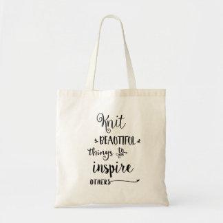 Beau sac fourre-tout à choses de Knit
