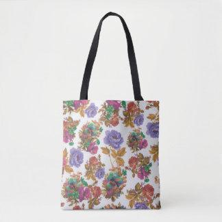 beau sac fourre-tout coloré à fleur