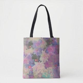 beau sac fourre-tout coloré à fleur de dentelle
