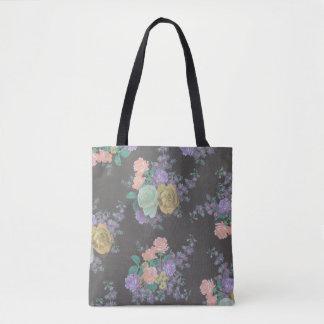 beau sac fourre-tout rose coloré à fleur