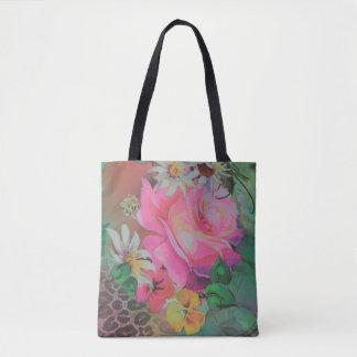 beau sac fourre-tout rose coloré à guépard de