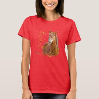 Beau T-shirt de vers de bible de cheval de