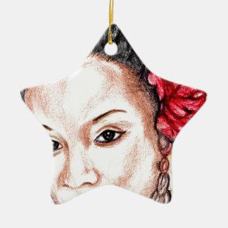 Beauté d'Afro-américain Ornement Étoile En Céramique